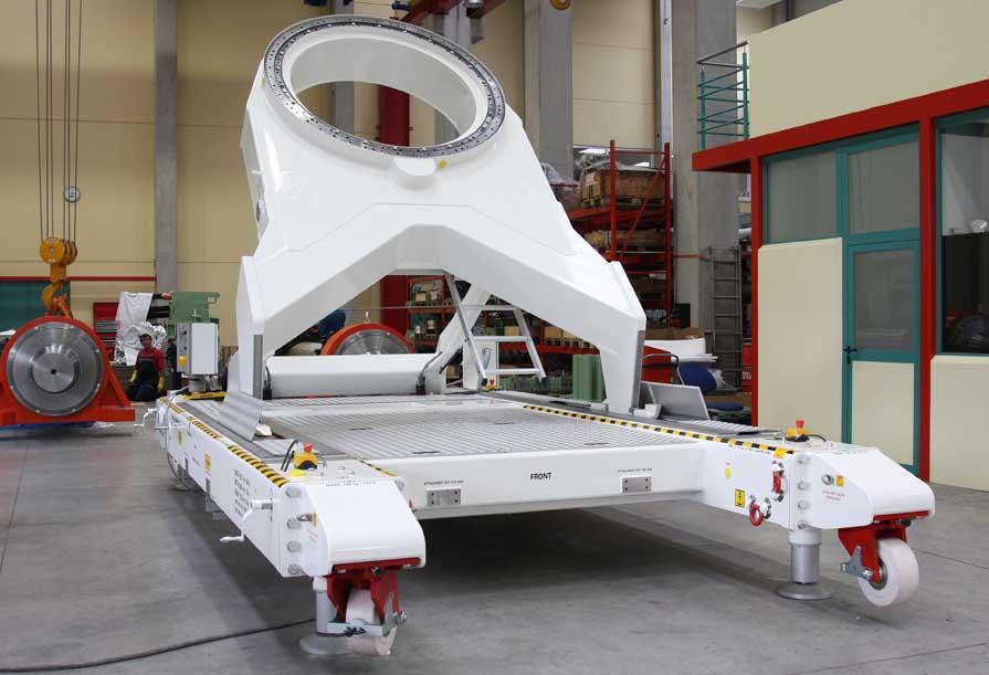Satellitenmontage Maschinenbau